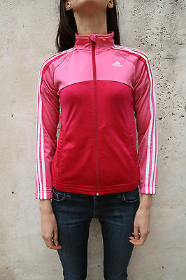 Adidas Girl's Fucsia Pink Tracksuit Top Jacket Sport Casuals 11-12 yrs 152cm