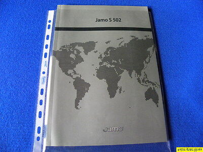 Jamo S502 Owner's Manual  Operating Instructions Mode D'emploi New