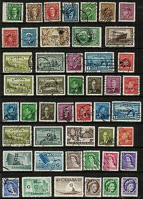 Canada Officials Used OHMS pinperfs, OHMS + G overpts, 47 diff, obsolete, F/VF