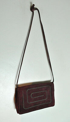 Vintage Bullocks Wilshire Suede Leather Burgundy Purse Made in Italy