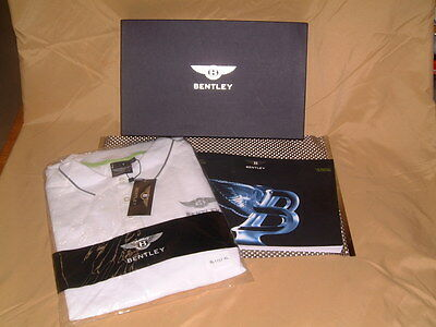 Bentley Collections Classic Gent's Polo Shirt In White. Nibwt Usa Xl, Euro Xxl.