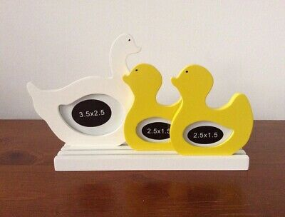 Cute Mother Duck & Ducklings Photo Frame Wood Packs Flat FREE POST!!!!