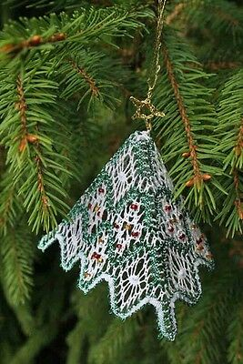 Christmas Pyramid 3d Tree Torchon Bobbin Lace Pattern Lacemaking *PATTERN ONLY*