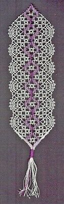 February Bookmark Bobbin Lace Pattern Lacemaking Crafts *PATTERN ONLY*