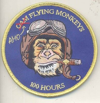 US Customs AMO Air and Marine Operations Flying Monkeys Pilot's 100 Hours Patch
