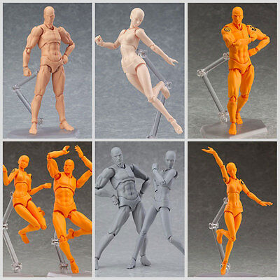 Male/Female PVC Action Figma Archetype Figure Model Toy For Drawing Sketch.