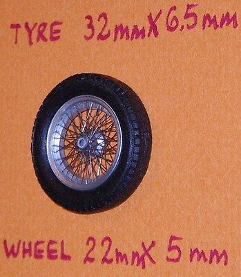FERRARI sports cars Speichenräder 1/24 hand laced wire spoked wheels sets of 2