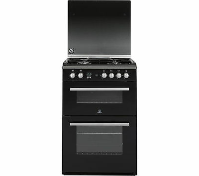INDESIT DD60G2CGK 60 cm Gas Cooker Black & Silver