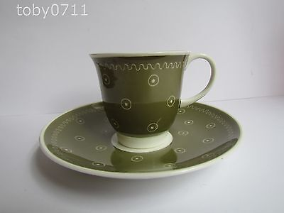 SUSIE COOPER BONE CHINA COFFEE CUP & SAUCER (Ref776)