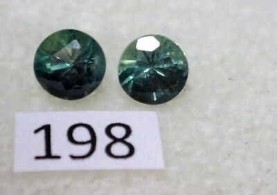 Natural Australian Sapphires Pair of 2 x 4mm round, total of .69 cts. ID #198