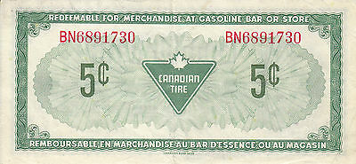 Canada Canadian Tire Store 1973 5 Cents  BN689 RED
