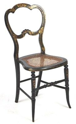 Antique Victorian Japanned Papier Mâché Dining Chair - FREE Shipping [PL3110]