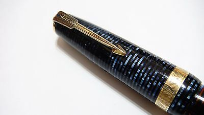 Parker Major Vacumatic In Azure Pearl, 14K Low Flex Fine Nib, Perfect
