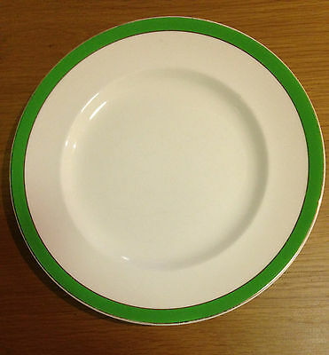 ALFRED MEAKIN SELWYN DINNER PLATE CHINA Green Band Border 1940s Made In England