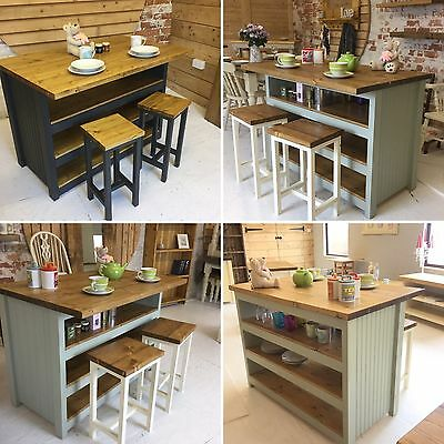 Bespoke Solid Pine Handmade To Order Kitchen Island / Breakfast Bar (2430)