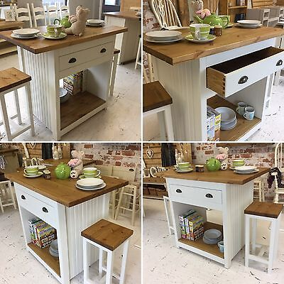 Bespoke Handmade To Order Rustic Farmhouse Kitchen Island/ Breakfast Bar