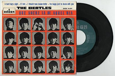 THE BEATLES A Hard Day's Night 1964 Orig Spain EP odeon green label DSOE 16.619