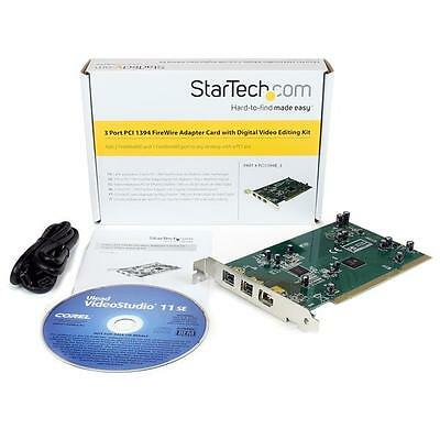 STARTECH PCI1394B_3 PCI Adapt. 2xFirewire 800 1xFirewire 400 with DV Editing Kit