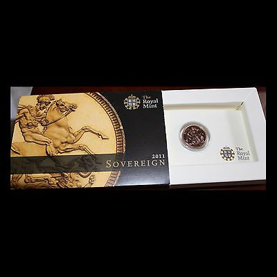 2011 Gold Sovereign in presentation box from the Royal Mint, UNC