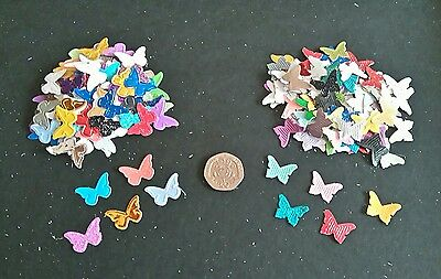 Pack of 200 small butterfly die cut shapes for cardmaking