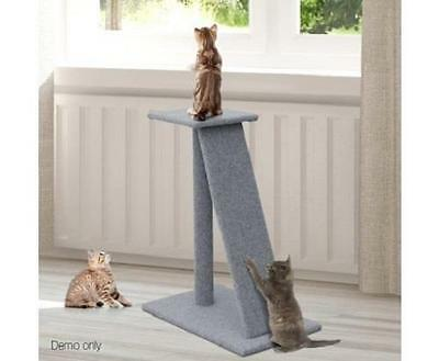 Tall Pet Cat Play Climbing Claw Scratching Post Pole Tree Perch with Ramp 82cm