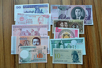 10 Different  paper money collection, 10 Country, non-repetition UNC BANKNOTE