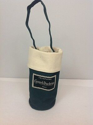 CANARD DUCHÊNE BRUT CHAMPAGNE ISOLATED BOTTLE BAG FRENCH Dark Green