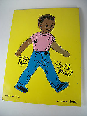 Vintage JUDY Boy Wooden Puzzle  Flawed for replacement Pieces