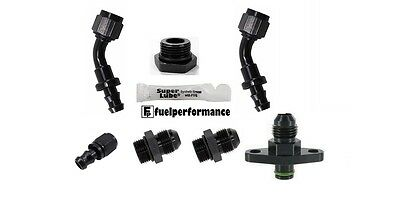 Mitsubishi EVO 4G63 Fuel Pressure Regulator AN Kit 6AN - AEM AEROMOTIVE FUELAB