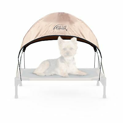 """K&H Manufacturing 17 by 22"""" Pet Cot Canopy Small Tan"""