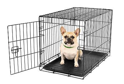 Carlson Pet Products Compact and Secure Single Door Metal Dog Crate Small