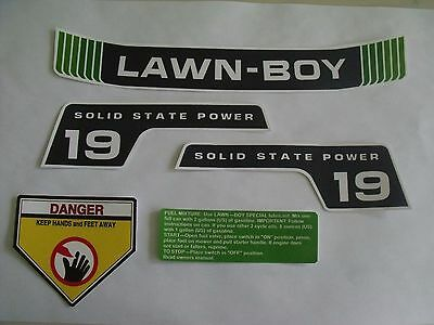 """Lawn-Boy,vintage,reproduction decals  for 19""""inch mower, model #'s 5277, 5247"""