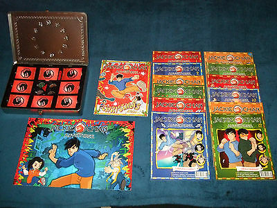 Jackie Chan Adventures Metal Talisman Tokens In Game Tin 2003 + Trading Cards