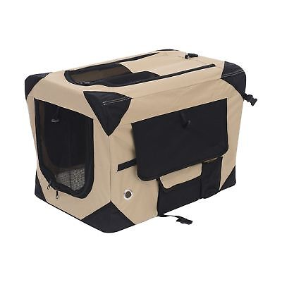 PawHut D00-008YL 32-Inch Folding Soft Pet Crate Dog Cage Carrier Kennel Puppy...