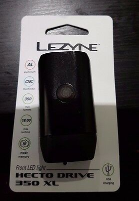 Lezyne Hecto Drive 350 XL LED Front Bike Light Rechargeable