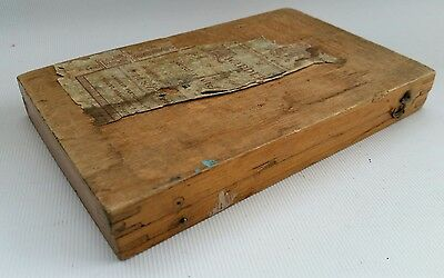 Vintage Education Committee Attendance Award Drawing Instrument Wooden Case