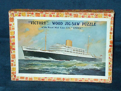 "Victory (Royal Mail Lines ""t.s Andes"") 1976 Wooden Jigsaw Puzzle - 45 Pieces"