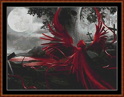 Cross Stitch Chart ( Pattern ) - ANGEL OF BLOOD *CD Delivery*