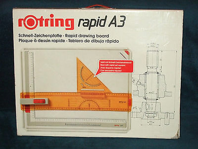 """ROTRING (RAPID) -  A3 BUSINESS / ARCHITECTURAL DRAWING BOARD IN BOX  (19"""" x 15"""")"""