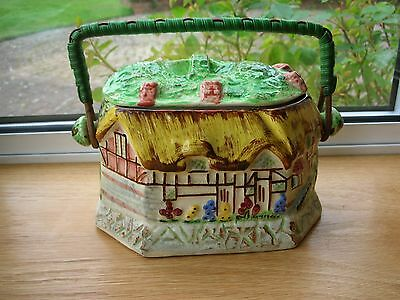 SHAKESPEARE WARE - ANN HATHAWAY'S COTTAGE - Lidded BISCUIT BARREL