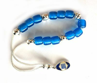 Greek Komboloi Worry Beads Acrylic Blue Beads Greek Flag
