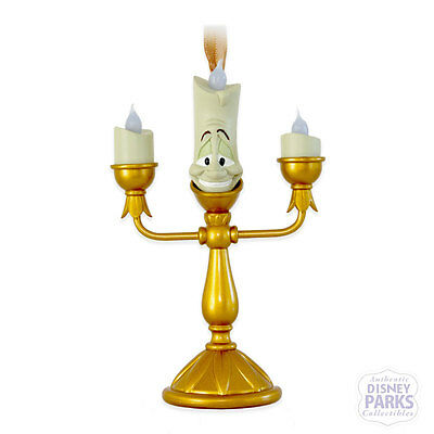 Authentic Disney Parks Lumiere Ornament Light-Up Beauty and the Beast