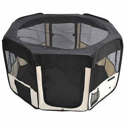 PawHut 49.2-inch Soft Pet Playpen Folding Tent Kennel Puppy Cat Dog Exercise ...