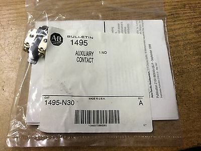 New Allen Bradley Auxiliary Contact No P/n: 1495-N30 (B8)