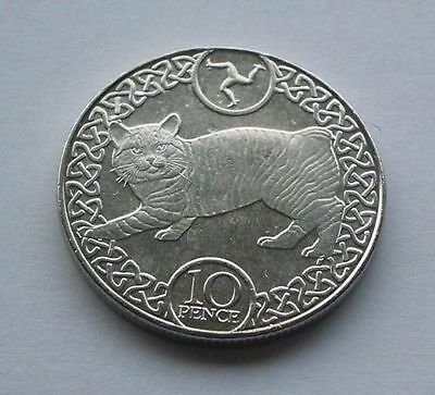 ISLE OF MAN 10 pence coin - MANX CAT 2017 Brand NEW from a coin bag - EUROPE