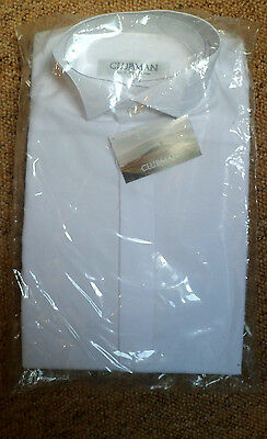 Brand New Boys Smart  Formal Winged Shirts Sizes 11.5 Or 13.5 White