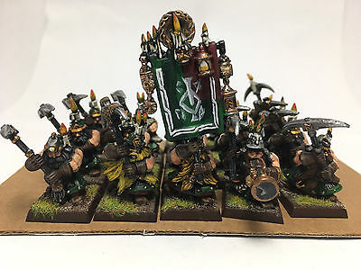 Warhammer fantasy AOS  Dwarf Miners X 18 Well Painted