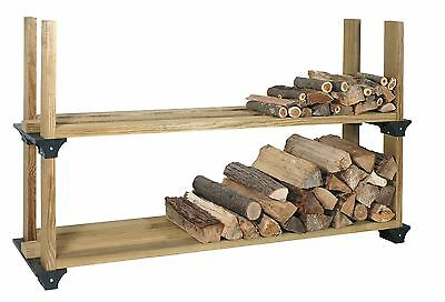 Customizable DIY Rack Storage Kit Outdoor Firewood Log Carriers Holders 8'x4'