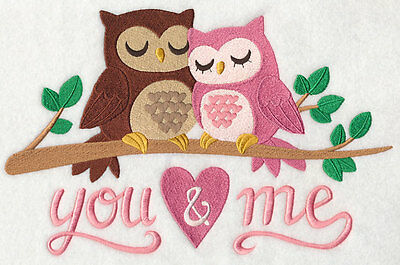 Embroidery owls quilt block,cushion panel,wall, machine,valentines day,love,owl