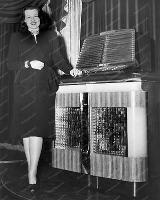 "Jukebox By Aireon Mfg Corp 1940s   8"" - 10"" B&W Photo Reprint"